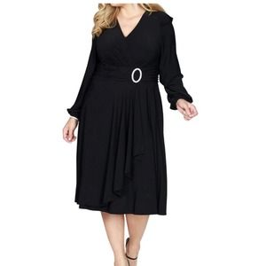 R&M RICHARDS- Long Sleeve Cocktail Dress